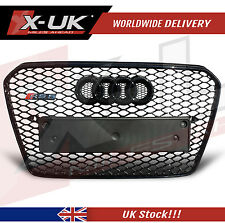 FRONT GRILL GLOSS BLACK FOR AUDI A5 S5 TO RS5 2012 - 2015