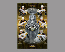 Boston Bruins 2011 STANLEY CUP CHAMPIONS 6-Player Commemorative POSTER