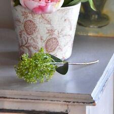 Small Green Artificial Skimmia Spray Realistic Faux Silk Belladonna Hydrangea