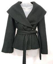 BCBGMAXAZRIA Black Wool Wrap Shawl Coat Size XS