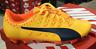 PUMA evoPower Vigor 4 FG Men's Soccer Cleats Yellow/Orange 103963 04 Sz8-11 L