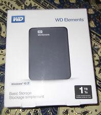 WD ELEMENTS - 1TB To - Basic Storage - Plug and Play - NEU !