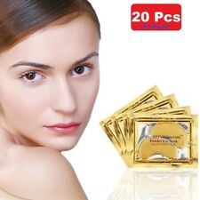 20 Pcs Crystal Collagen 24k Gold Under Eye Gel Pad Face Mask Anti Aging Wrinkle