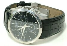 TISSOT COUTURIER CHRONOGRAPH MENS BLACK LEATHER STRAP WATCH T035617A