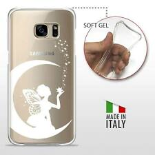 Samsung Galaxy S7 CASE COVER PROTETTIVA GEL TRASPARENTE Disney Fata Bianca