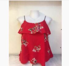 WOMEN'S FLORAL SLEEVELESS BLOUSE NC -  RED