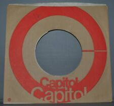 5x 45 rpm CAPITOL brown red circle company sleeve LOT original record sleeves