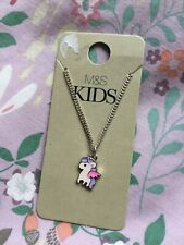 BNWT Marks Spencer M&S Girls Unicorn Necklace/Charm on Chain