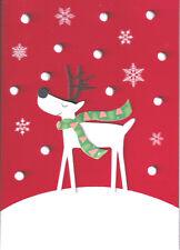 PAPYRUS CHRISTMAS CARD NIP MSRP $6.95 REINDEER CARD (G1)