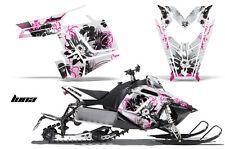 AMR Racing Sled Wrap Polaris Pro RMK Rush Snowmobile Graphics Kit 11-14 LUNA PNK
