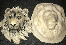 Latex mould for making this Very Detailed Lions Head Plaque