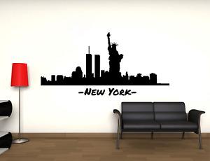 Adesivo New York Skyline statua libertà stickers murale decalcomania 01