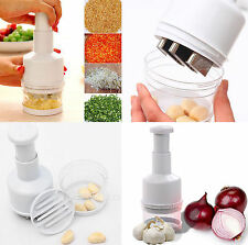 Handheld Onion Garlic Food Slicer Chopper Cutter Peeler Grater Dicer Press NEW