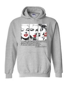 Marilyn Monroe Hoodie Marilyn Monroe Wise Girl Kisses  Unisex Hoodies Sweater