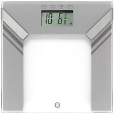 Weight Digital Ultra Slim Glass Scales, Body Analyser Bathroom Weighing - Silver