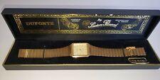 Vintage DUFONTE by Lucien Piccard Men's Quartz Dress Watch