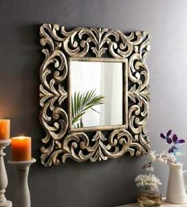 Wooden Antique Decorative Wall Mirror Frame For Home With Mirror