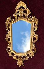 Wandspiegel Barock Gold Spiegel Antik Badspiegel Barspiegel 83x43 Oval C1G V