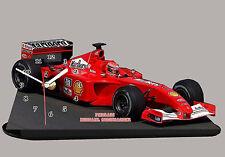 MODEL CARS, FORMULA ONE , F1, MICHAEL SCHUMACHER, FERRARI with Clock