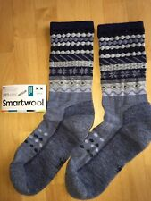 SmartWool Flake Isle Crew Socks�CInk Heather, Casual Dress Cozy Winter �CWomen MED