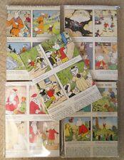 50 A5 Sheets Reclaimed Rupert Bear Comic Ideal Decoupage Craft Paper
