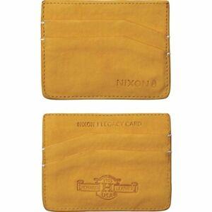 Nixon Legacy Card Wallet Goldenrod Brand New In Box