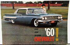 1960 Chevrolet Impala Belair Biscayne Wagons Corvair Corvette Sales Brochure Sm