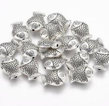 15 Tibetan Silver Fish Spacer Beads Charms 14mm Top Quality Ts66