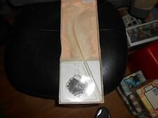 Vintage C.R. Gibson White Pen Set With Plume Feather and base Wedding Accessory