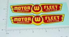 Wyandotte Motor Fleet Semi Trailer Sticker Set   WY-037
