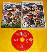 CINEMA PARTY Nintendo Wii Versione Italiana 1ª Edizione ○○ USATO - B8