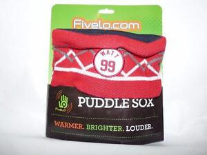 FiveLo Puddle Sox Rain Boot Socks Warmers J.J. Watt #99 Houston Texans Football