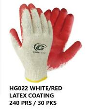 Wholesale Red Latex Rubber Palm Coated Work Safety Gloves 240 Pairs With Logo