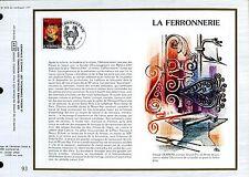 DOCUMENT CEF PREMIER JOUR  1982  TIMBRE N° 2206 FERRONNIER A SON OUVRAGE