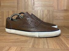 VTG🔥 Converse John Varvatos Wingtip Brogue Brown White Leather 8.5 Men's Shoes