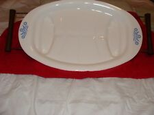 Vintage Corning Ware Blue Cornflower Meat Platter w/Serving Tray/Cradle P-19