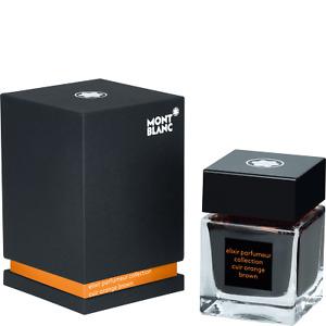 Montblanc Fountain Pen Ink Bottle, Elixir Parfumeur, Leather scent~Orange ~ NEW