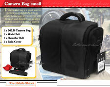 AU POST SLR DSLR Lens Camera Bag Carry Case For Nikon Canon Sony + Rain Cover