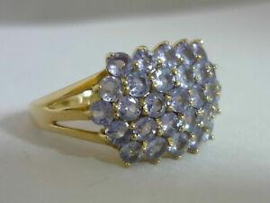 Stunning Large Certified Tanzanite & 9K Gold Ring Size N