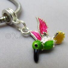 Hummingbird European Charm Pendant For Large Hole Charm Bracelets And Necklaces