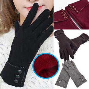 UK Women Ladies Winter Gloves Warm Fleece Anti-slip Thermal Touch Screen Gloves