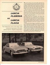 1964 LANCIA FLAMINIA VS FLAVIA ~ ORIGINAL 5-PAGE ROAD TEST / ARTICLE / AD