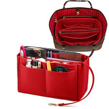 Purse Organizer Insert Felt Bag Fit For LV 35 Speedy MM Longchamp Tote Large RED
