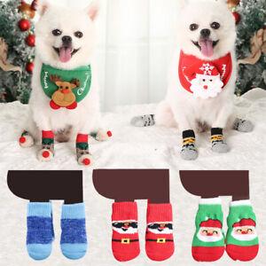 Christmas Dog Cat Pet Santa Socks Puppy Winter Cute Lovely Warm Socks Supplies