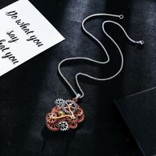 Gothic Steampunk Gear Necklace Pendant Vintage Style Women Men Prom Rock Jewelry