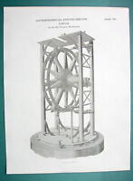 ASTRONOMY Wollaston's Circle Telescope - 1820 Antique Print by A. Rees