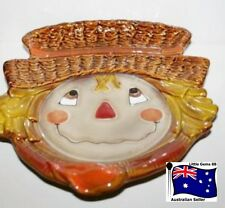 YANKEE CANDLE LARGE JAR OR MEDIUM SCARECROW Plate ~ SUPER RARE & SUPER CUTE! ~