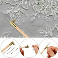 Tambour Hook with 3 Needles 70 100-120 Embroidery Beading Crochet Set Tool A8E7