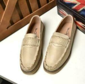 Mens Pumps Slip on Loafers Walking Real Leather Driving Moccasins Boats Shoes MO