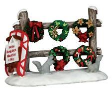 "Lemax ""Christmas Wreaths For Sale "" # 54942 nip"